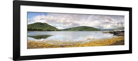 Ship at the Inveraray Maritime Museum, Inveraray, Loch Fyne, Argyll and Bute, Scotland--Framed Art Print