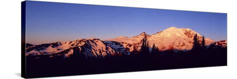 Sunset Mount Rainier Seattle Wa--Stretched Canvas Print