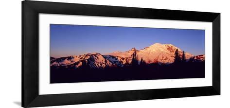 Sunset Mount Rainier Seattle Wa--Framed Art Print