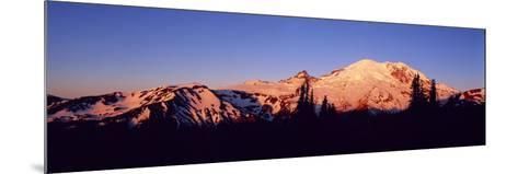 Sunset Mount Rainier Seattle Wa--Mounted Photographic Print