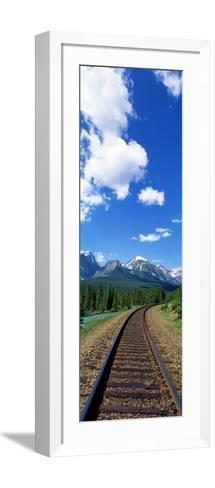 Rail Road Tracks Banff National Park Alberta Canada--Framed Art Print