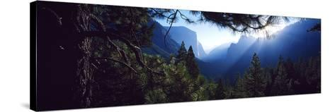 Tunnel View Point at Sunrise, Yosemite National Park, California, USA--Stretched Canvas Print