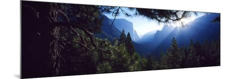 Tunnel View Point at Sunrise, Yosemite National Park, California, USA--Mounted Photographic Print