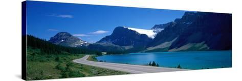 Road Along Bow Lake Alberta Canada--Stretched Canvas Print