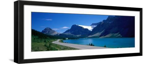 Road Along Bow Lake Alberta Canada--Framed Art Print