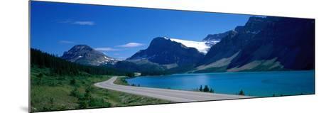 Road Along Bow Lake Alberta Canada--Mounted Photographic Print