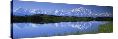 Mountains and Lake Denali National Park Ak USA--Stretched Canvas Print