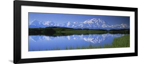 Mountains and Lake Denali National Park Ak USA--Framed Art Print