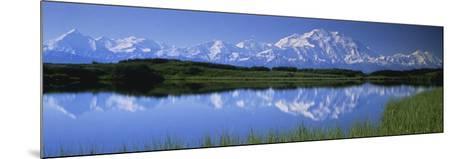 Mountains and Lake Denali National Park Ak USA--Mounted Photographic Print