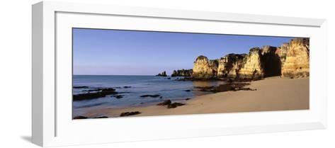 Rock Formations on the Coast, Algarve, Lagos, Portugal--Framed Art Print