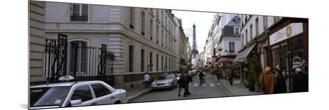 Buildings Along a Street with a Tower in the Background, Rue Saint Dominique, Eiffel Tower--Mounted Photographic Print