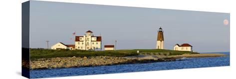 Lighthouse on the Coast, Point Judith Lighthouse, Narragansett Bay, Washington County--Stretched Canvas Print