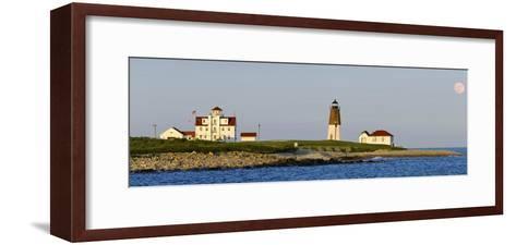 Lighthouse on the Coast, Point Judith Lighthouse, Narragansett Bay, Washington County--Framed Art Print