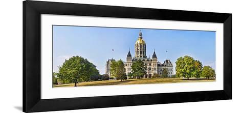 Facade of a Government Building, Connecticut State Capitol, Capitol Avenue, Bushnell Park--Framed Art Print