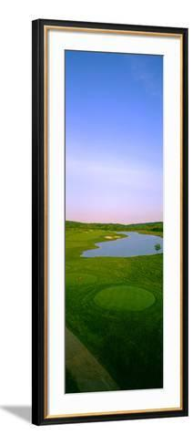 Aerial View of a Golf Course, Caves Valley Golf Club, Owings Mills, Baltimore County, Maryland, USA--Framed Art Print