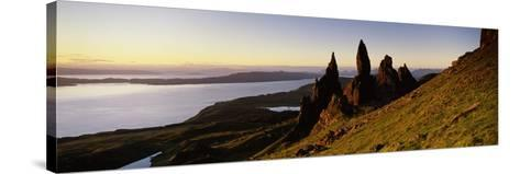Rock Formations on the Coast, Old Man of Storr, Trotternish, Isle of Skye, Scotland--Stretched Canvas Print