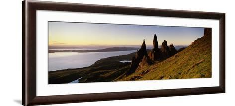 Rock Formations on the Coast, Old Man of Storr, Trotternish, Isle of Skye, Scotland--Framed Art Print