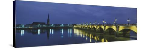 Pierre Bridge Bordeaux France--Stretched Canvas Print