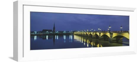 Pierre Bridge Bordeaux France--Framed Art Print