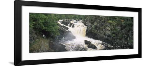 Waterfall in a Forest, Rogie Falls, Black Water River, Inverness, Ross and Cromarty--Framed Art Print