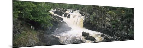 Waterfall in a Forest, Rogie Falls, Black Water River, Inverness, Ross and Cromarty--Mounted Photographic Print
