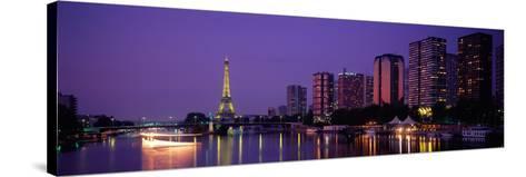Evening Paris France--Stretched Canvas Print