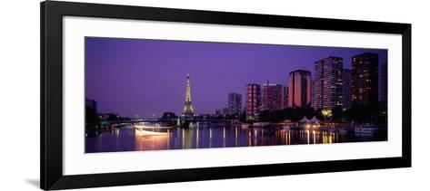 Evening Paris France--Framed Art Print