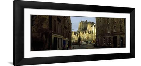 Castle in a City, Edinburgh Castle, Edinburgh, Scotland--Framed Art Print