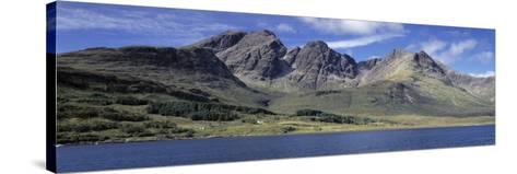 Hills, Cuillins, Loch Slapin, Isle of Skye, Scotland--Stretched Canvas Print