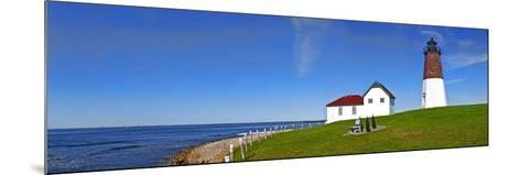 Lighthouse on the Coast, Point Judith Lighthouse, Narragansett Bay, Rhode Island, USA--Mounted Photographic Print