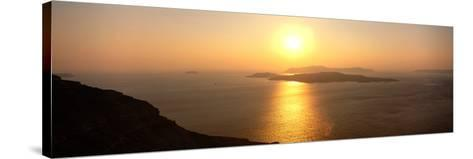 Santorini from Athinios, Greece--Stretched Canvas Print