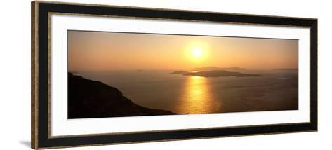 Santorini from Athinios, Greece--Framed Art Print