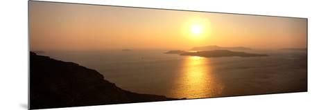 Santorini from Athinios, Greece--Mounted Photographic Print