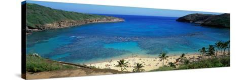 Beach at Hanauma Bay Oahu Hawaii USA--Stretched Canvas Print