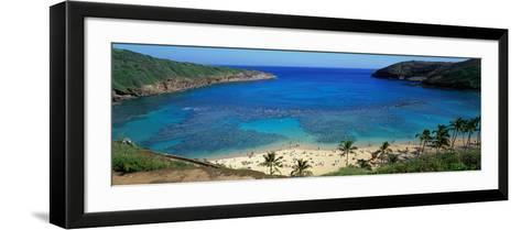 Beach at Hanauma Bay Oahu Hawaii USA--Framed Art Print