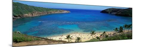 Beach at Hanauma Bay Oahu Hawaii USA--Mounted Photographic Print