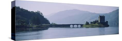 Castle at the Lakeside, Eilean Donan Castle, Loch Duich, Highlands Region, Scotland--Stretched Canvas Print
