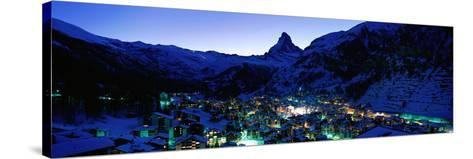 Matterhorn and Zermatt Switzerland--Stretched Canvas Print