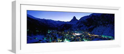 Matterhorn and Zermatt Switzerland--Framed Art Print
