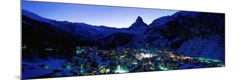 Matterhorn and Zermatt Switzerland--Mounted Photographic Print