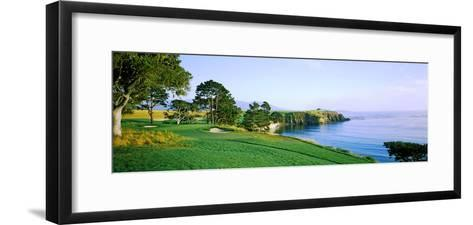 Pebble Beach Golf Course, Pebble Beach, Monterey County, California, USA--Framed Art Print