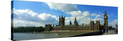 Houses of Parliament London England--Stretched Canvas Print