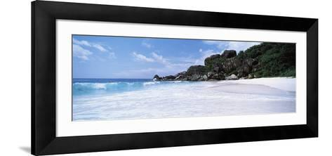 Rock Formations on the Beach, Grand Anse, La Digue Island, Seychelles--Framed Art Print