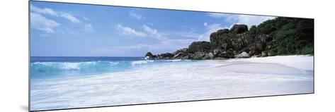 Rock Formations on the Beach, Grand Anse, La Digue Island, Seychelles--Mounted Photographic Print