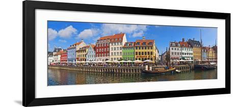Buildings Along a Canal with Boats, Nyhavn, Copenhagen, Denmark--Framed Art Print