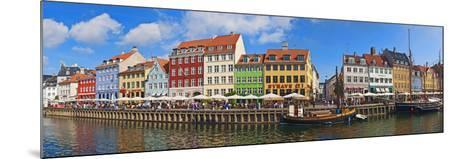 Buildings Along a Canal with Boats, Nyhavn, Copenhagen, Denmark--Mounted Photographic Print