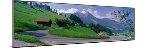 Mountain Road Jaunpass Switzerland--Mounted Photographic Print