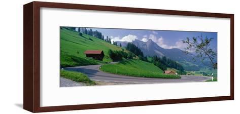 Mountain Road Jaunpass Switzerland--Framed Art Print