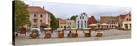 Buildings in a City, Klaipeda, Lithuania--Stretched Canvas Print