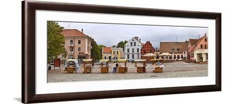 Buildings in a City, Klaipeda, Lithuania--Framed Art Print